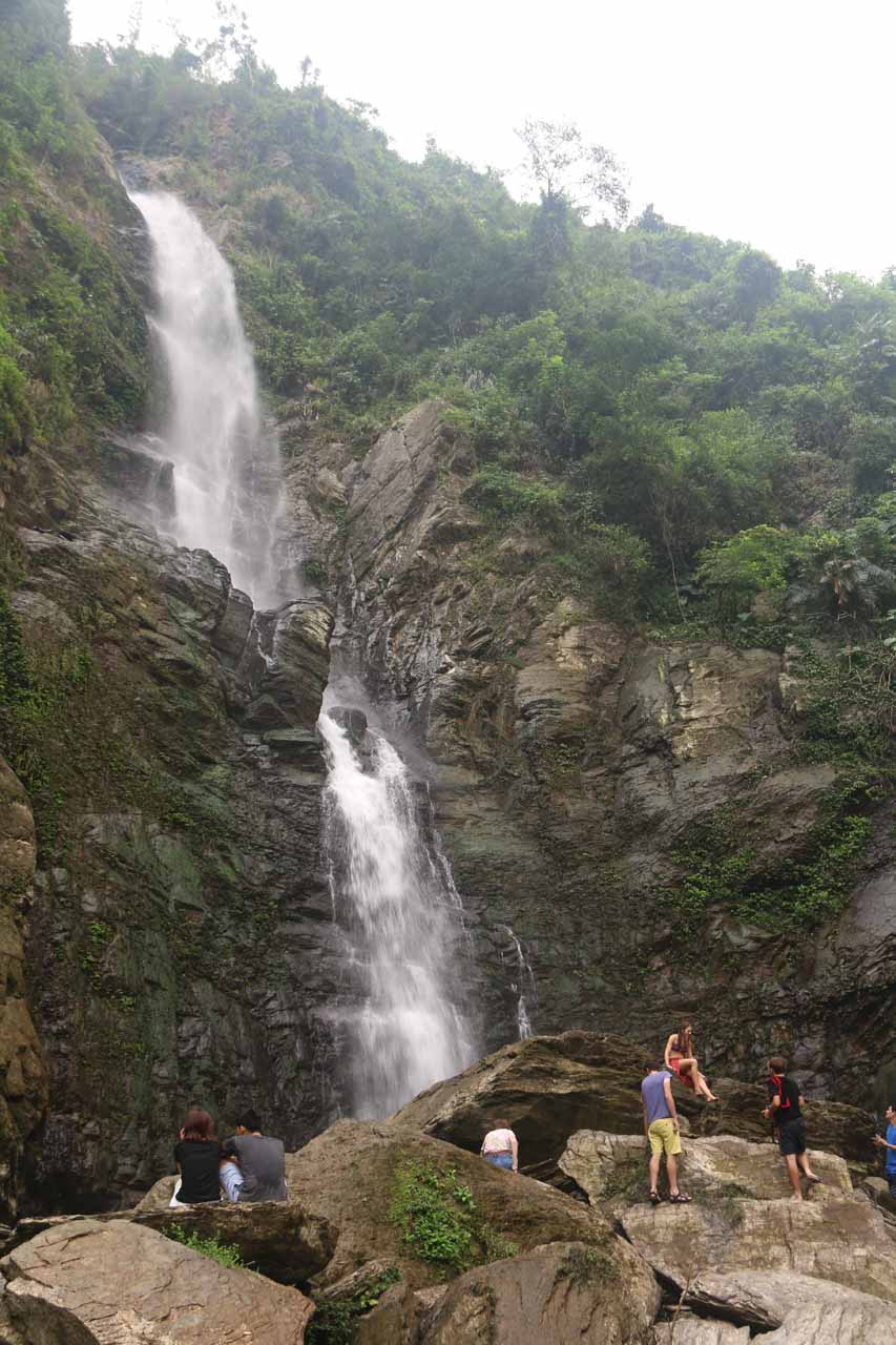 The uppermost and biggest drop of the Liangshan Waterfall