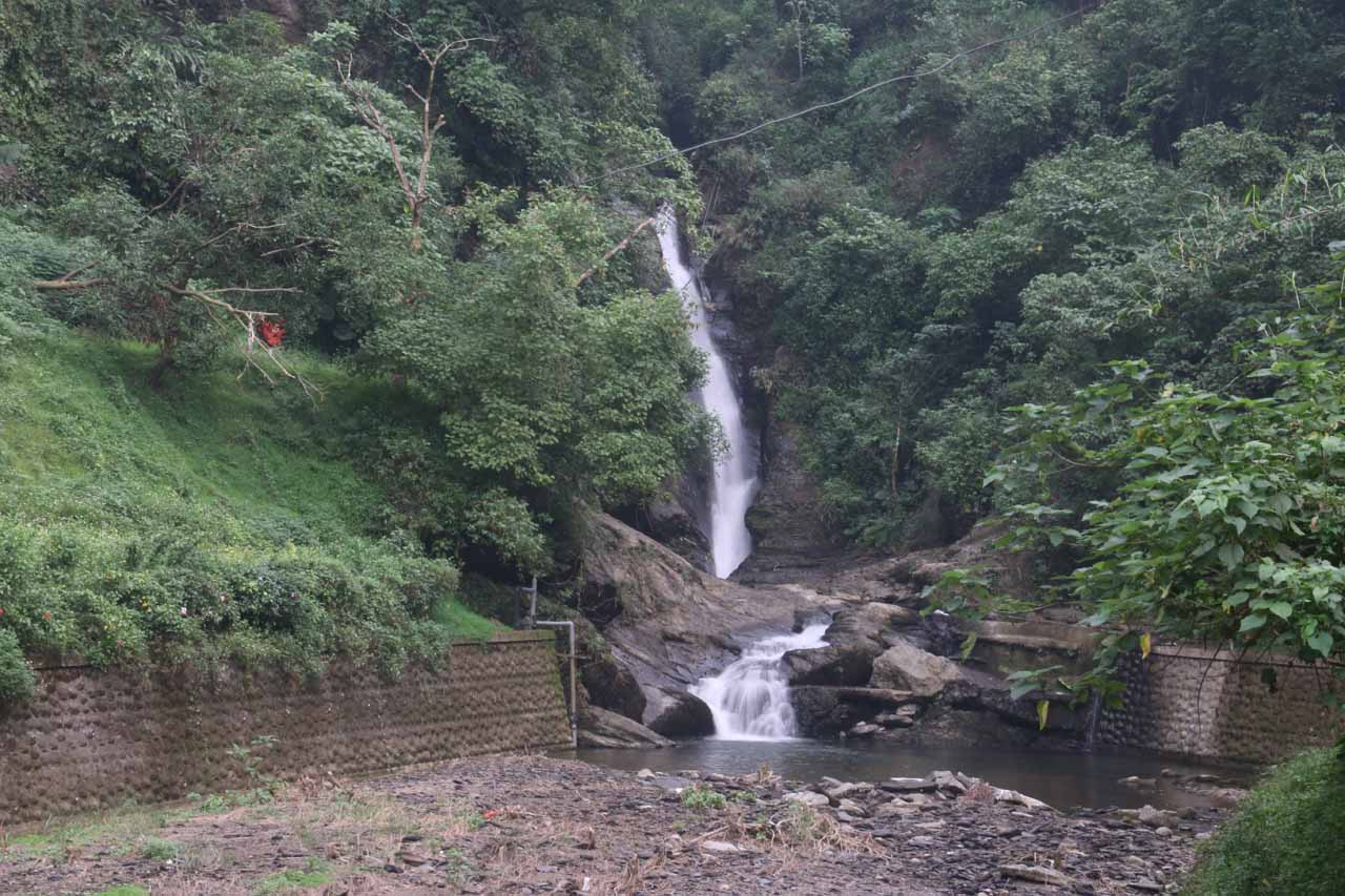 Another look at the first Liangshan Waterfall as seen from the bridge over the Niujiaowan Stream