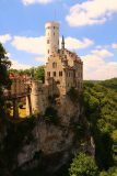 Lichtenstein_Castle_053_06232018 - The Lichtenstein Castle with the sun and shade providing different colors