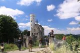 Lichtenstein_Castle_072_06232018 - Looking back at the context of the people who would eagerly get to this lookout of Lichtenstein Castle