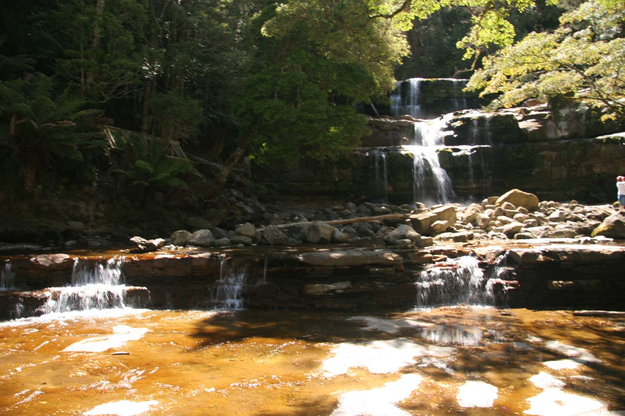 Direct view of Liffey Falls from the middle of the Liffey River taken back in November 2006