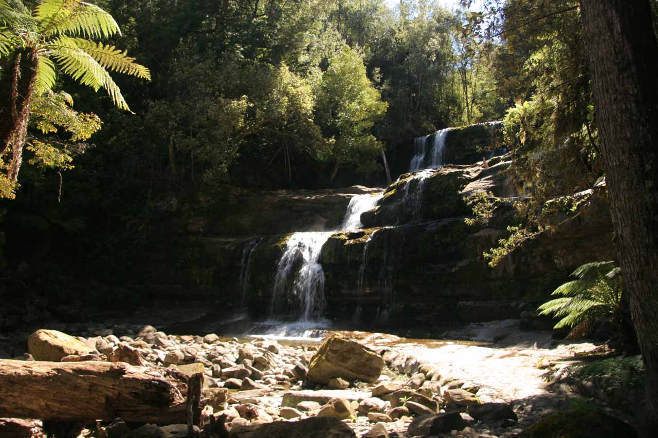 The last of the four main waterfalls of Liffey Falls