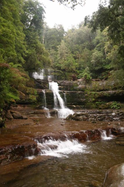 Liffey_Falls_17_124_11242017 - I couldn't get a clean direct look at Liffey Falls on my 2017 visit due to an incoming strong storm combined with very slippery rocks