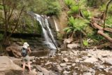 Lilydale_Falls_17_020_11232017 - Julie checking out the Lower Lilydale Falls during our November 2017 visit