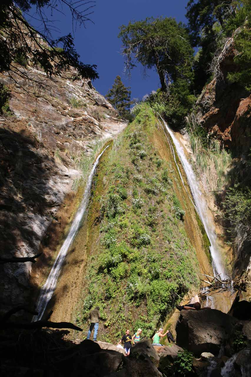 Closer look at the main part of Limekiln Falls