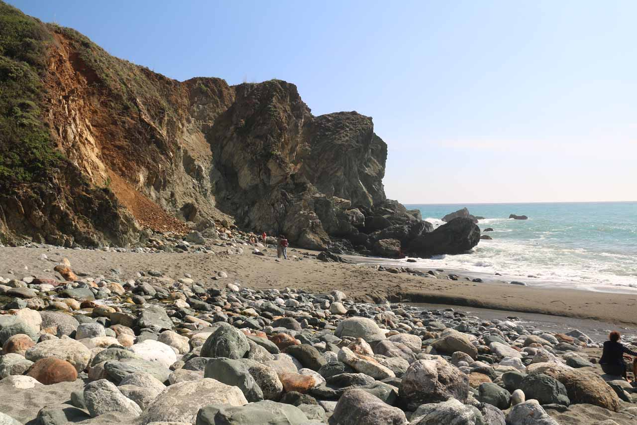 This is the beach at Limekiln State Park, which had fairly fine sand though the water looked rough. Still, it was a nice spot for a picnic or just to play in the sand after hiking to Limekiln Falls