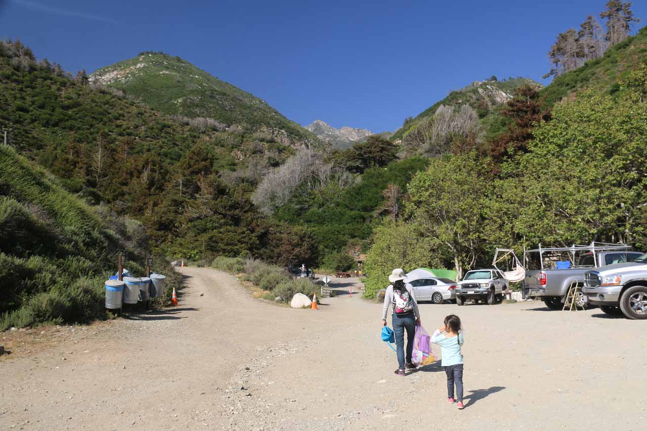 Passing through a campground for the beach at Limekiln State Park
