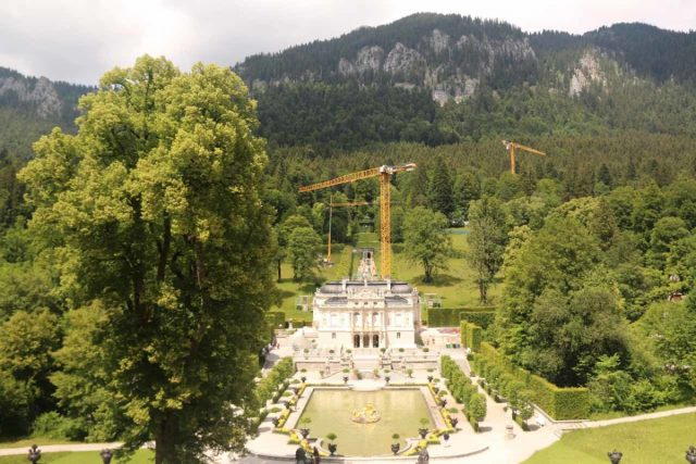 Linderhof_Palace_030_06272018 - A little less than a half-hour drive north of Farchant was the Linderhof Palace, which was one of the few retreats that Ludwig II commissioned that was actually completed