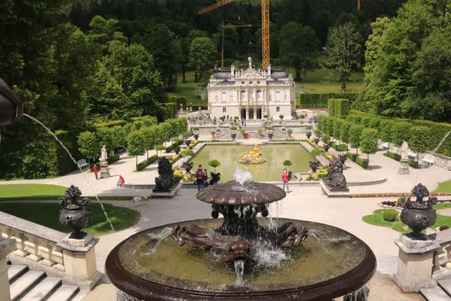 Linderhof_Palace_048_06272018 - A little over a half-hour drive north of Grainau was the Linderhof Palace, which was one of the few retreats that Ludwig II commissioned that was actually completed