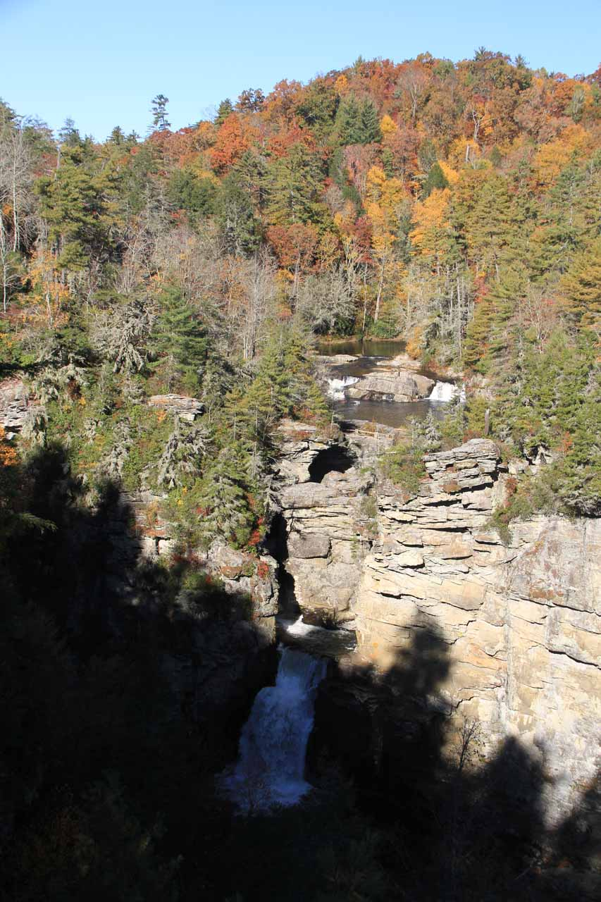 Linville Falls plus its upper tiers