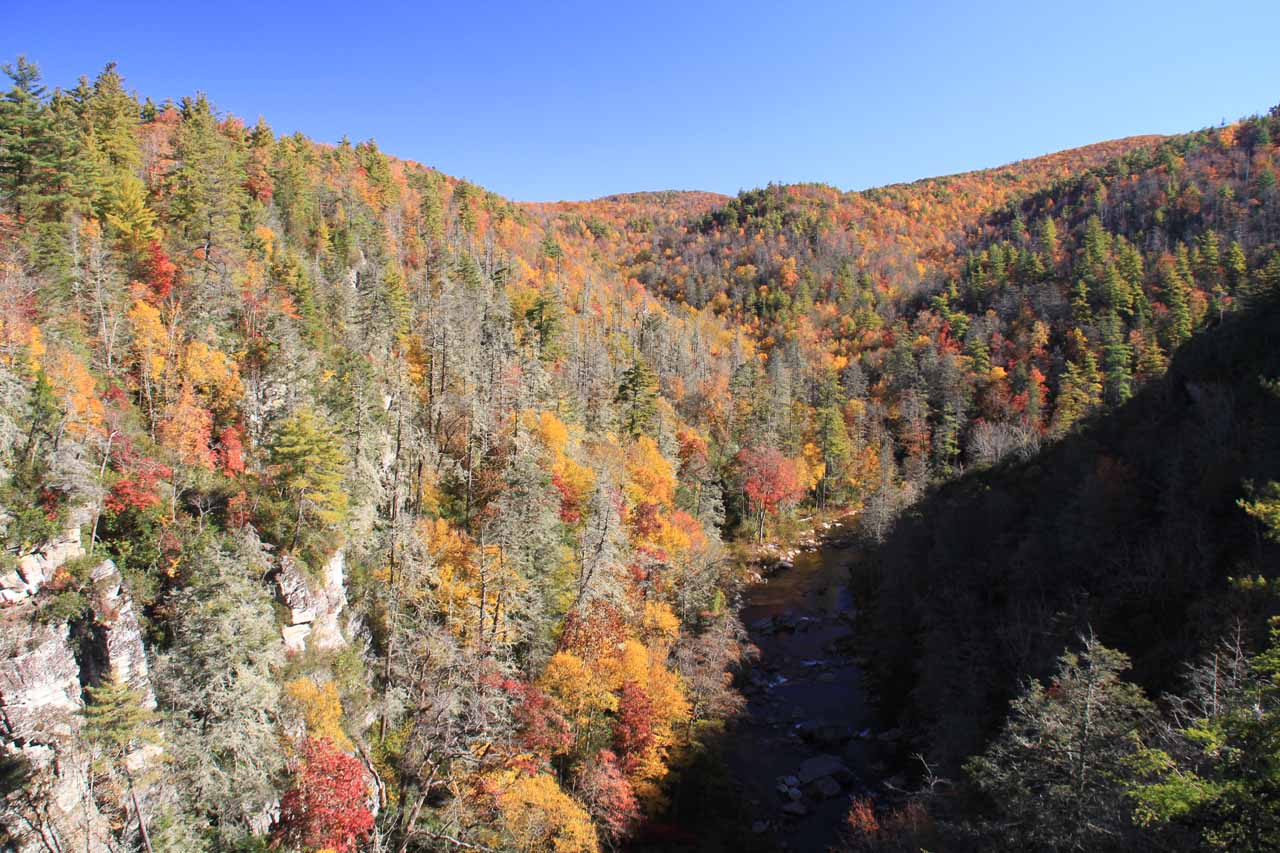 Linville Gorge from Chimney Rock Overlook