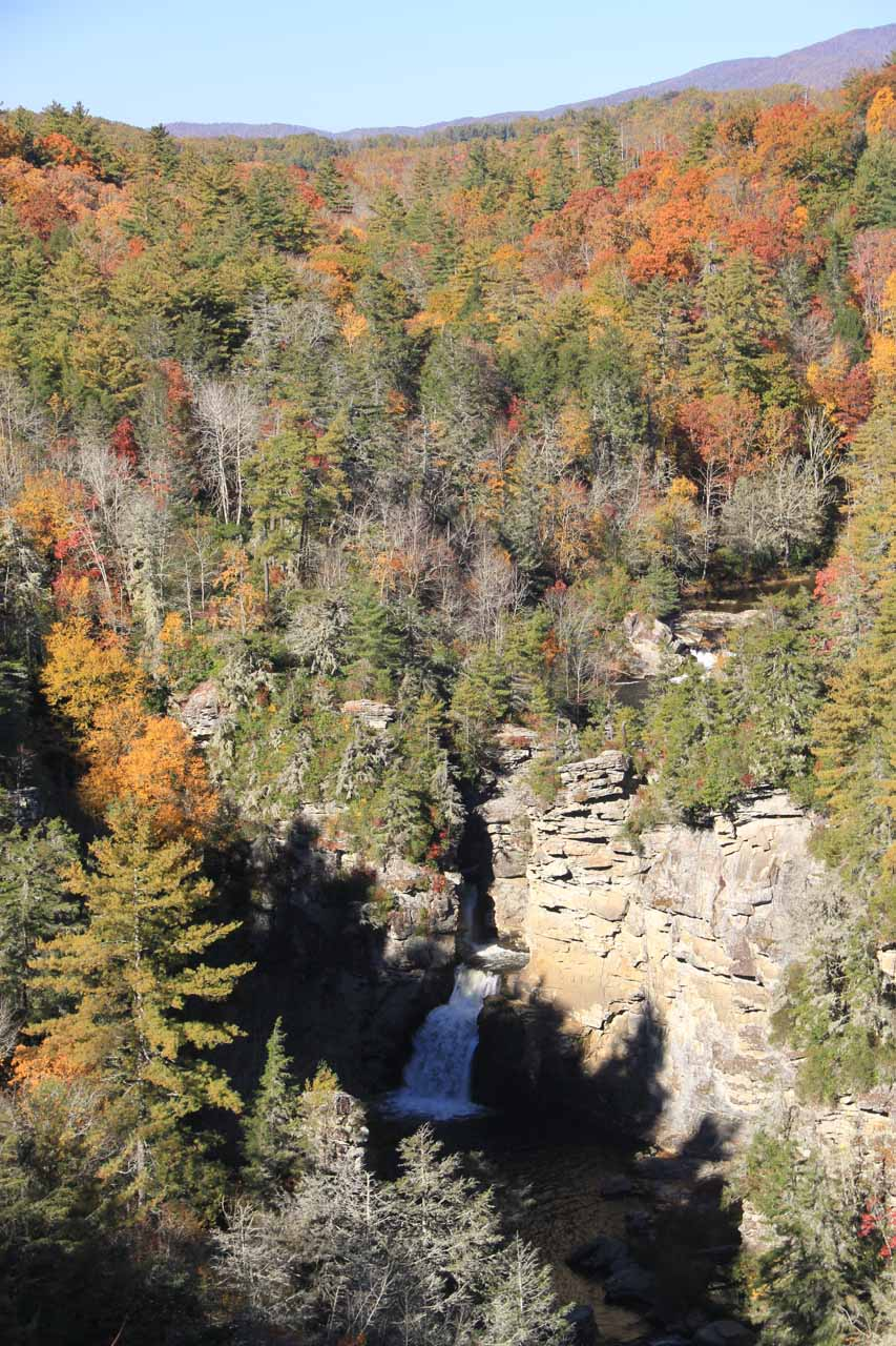 Another look at Linville Falls from Erwin's View