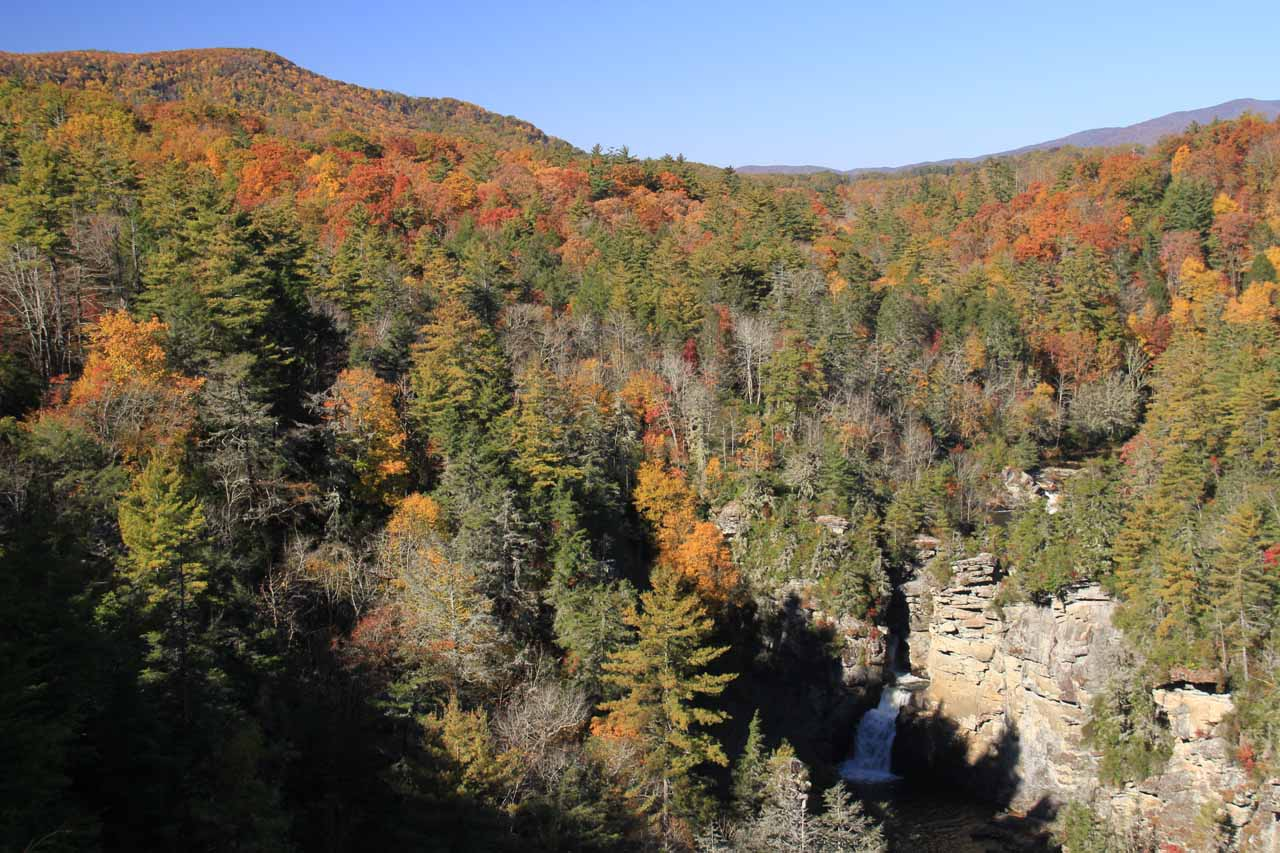 Linville Falls from Erwin's View