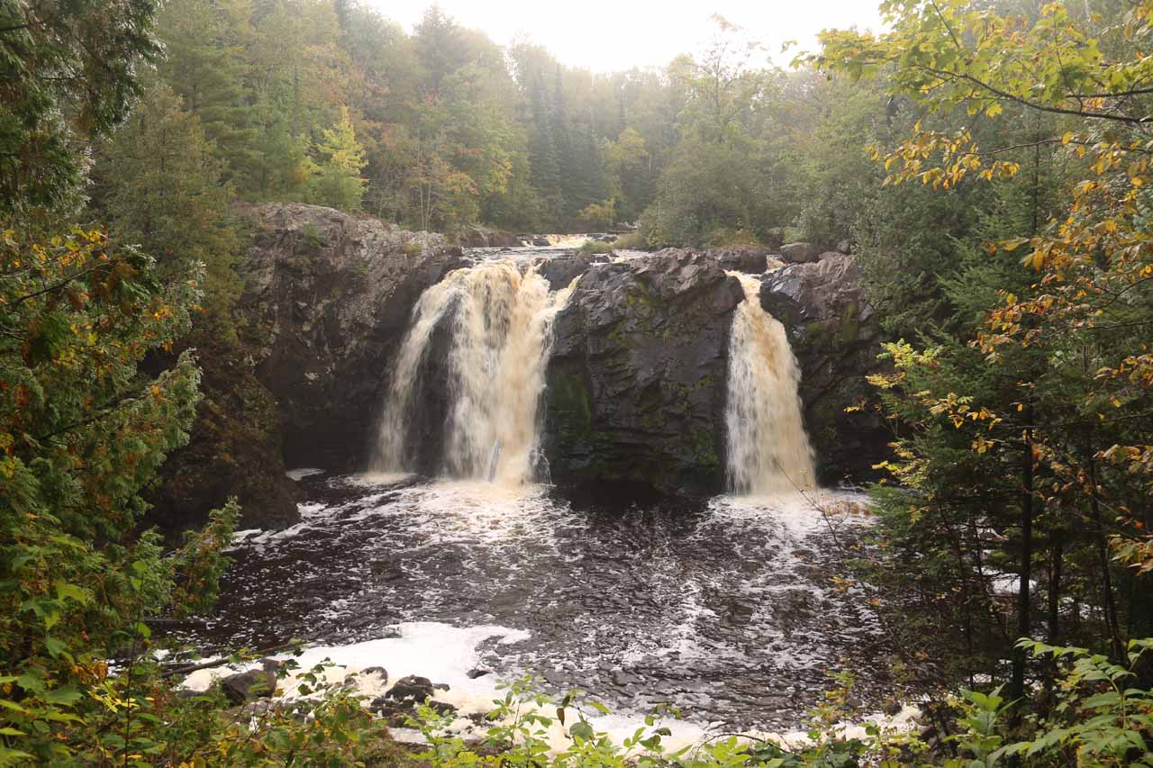 This was our first look at Little Manitou Falls, which was barely a couple minutes walk from the car park