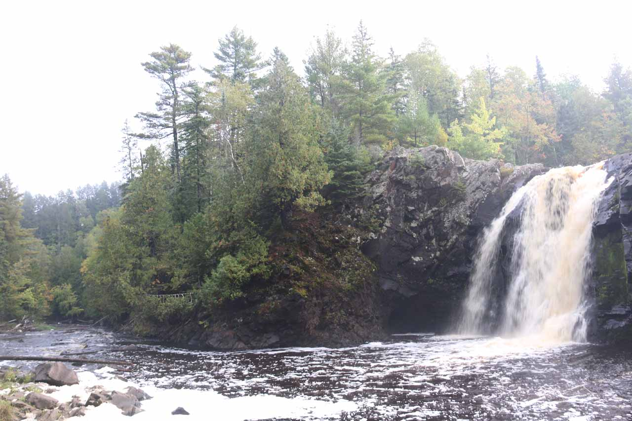 An unofficial trail of use led down to the frothy banks of the Black River, where I managed to get this view of Little Manitou Falls