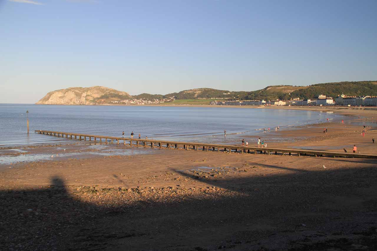 Another worthwhile place to check out just 5 miles north of Conwy was the Victorian beach resort town of Llandudno, which had colorful Victorian homes backing a calm bay