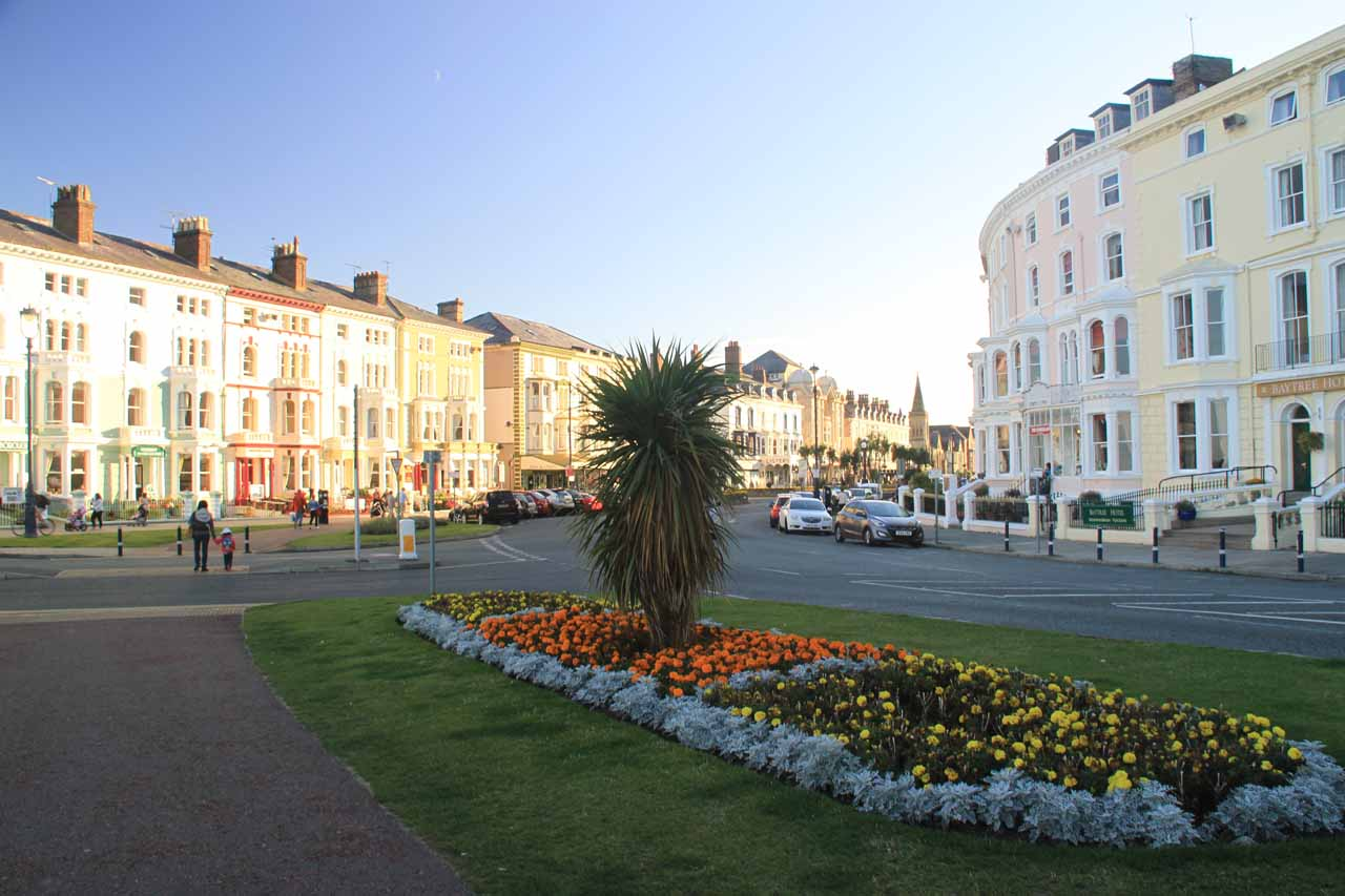 Another worthwhile place to check out just 5 miles north of Conwy was the Victorian beach resort town of Llandudno, which had colorful Victorian homes that really reminded us of San Francisco