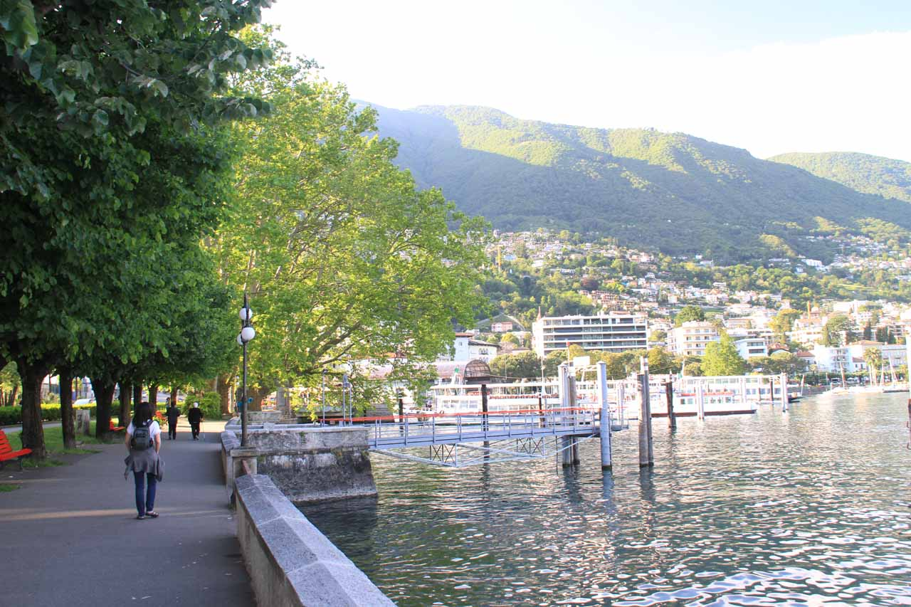 On the rather quiet waterfront of Locarno on the north shore of Lake Maggiore