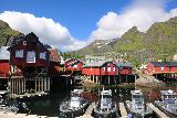 Lofoten_199_07032019 - Looking back towards the mountains and stilted buildings at A i Lofoten