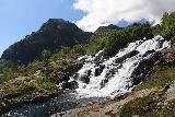 Lofoten_305_07032019 - About to climb alongside the Sørvågen Waterfall shortly after crossing the footbridge
