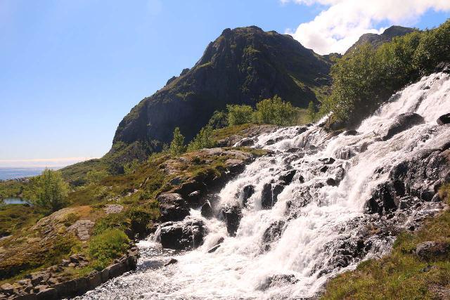 Lofoten_308_07032019 - Looking across the Sørvågen Waterfall as I was climbing alongside it