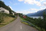 Lofthus_002_06232019 - Around Lofthus, the narrow Rv13 passed through some extensive sloping fields of sweet fruits like cherries and apples, which was the Ullensvang municipality's main export