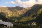 Lofthus_007_06232019 - As I was driving south on the Rv13 through Lofthus, I could easy see Skrikjofossen towering over the head of Elvedalen. Note that in June 2019 (when this photo was taken), it seemed to have a bit less flow than in June 2005