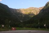 Lofthus_037_06232019 - The familiar look towards both Skrikjofossen and Opofossen but this time there was a basketball court instead of a construction site at Elvedalen