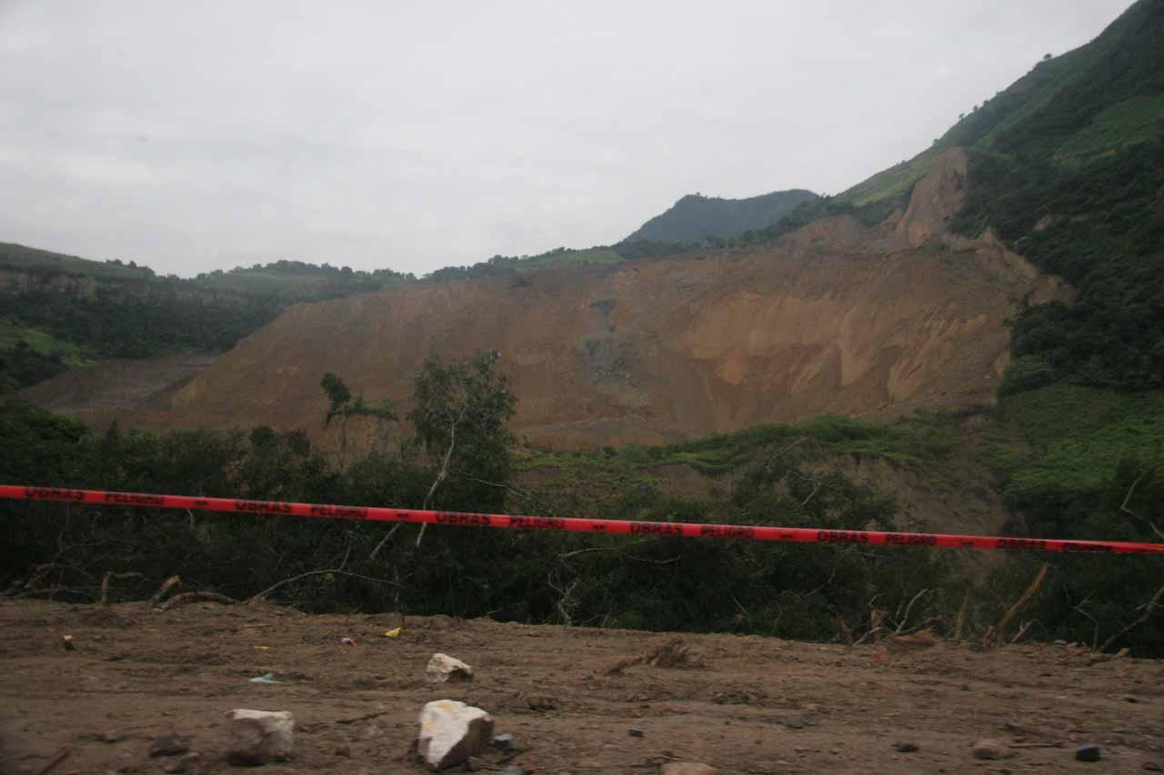 Major landslide from a month ago