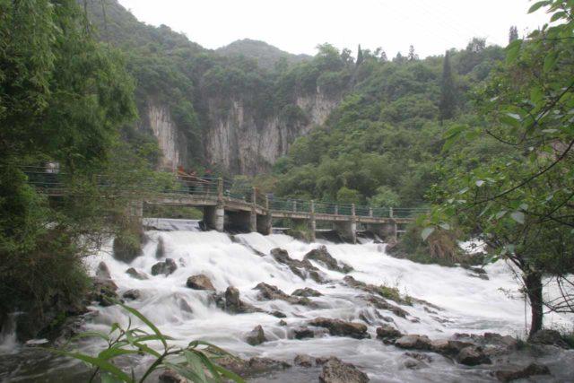 Longgong_013_04252009 - Cascades beneath a bridge en route to the Longmen Waterfall