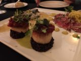 Los_Gatos_002_mom_05192016 - Closer look at a tasty scallop appetizer at Forbes Hill Steakhouse in Los Gatos