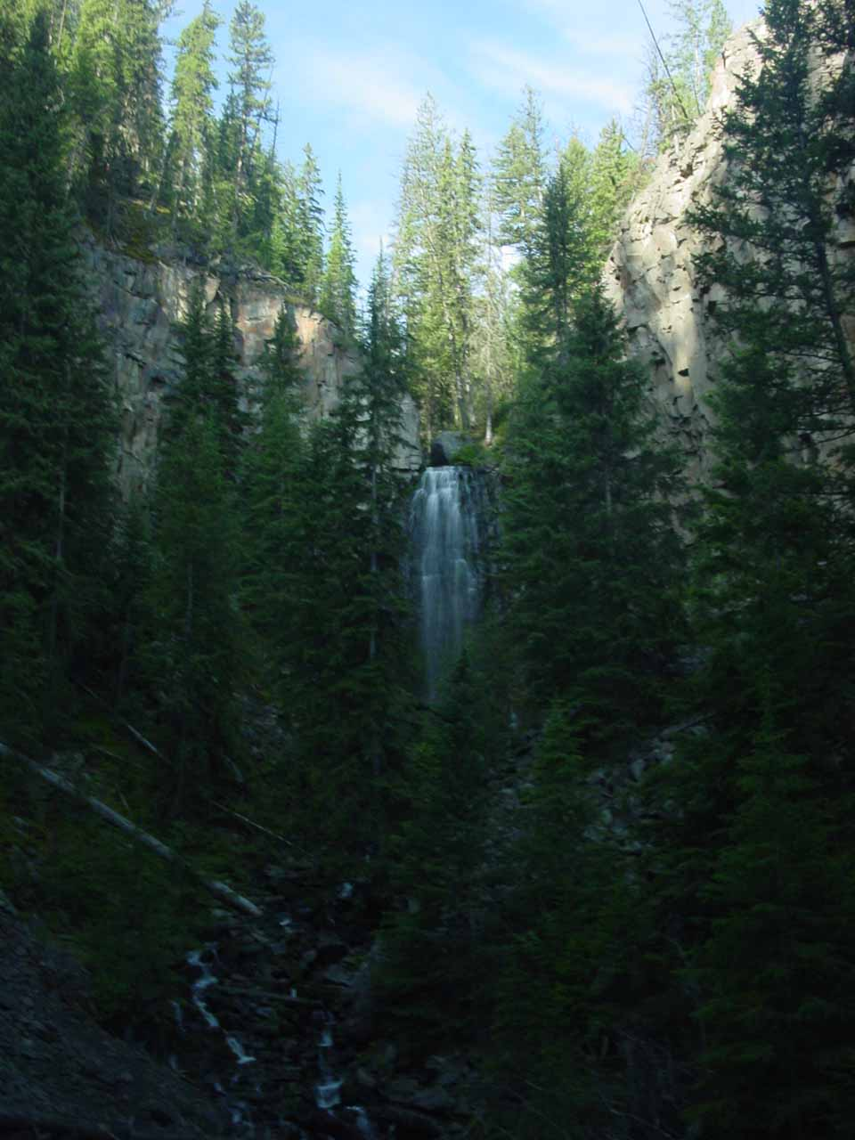 This view of Lost Creek Falls was from the end of the official trail as seen back in June 2004