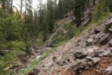 Lost_Creek_Falls_023_08102017 - Looking back at the steep and loose terrain along Lost Creek, which was why the sanctioned part of the trail did not include this scramble in August 2017