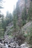 Lost_Creek_Falls_036_08102017 - The verticality of the cliffs beyond the end of the official Lost Creek Falls Trail meant that the area was prone to rockslides or rockfalls, which was another reason why they probably ended the sanctioned part where they did during my August 2017 visit