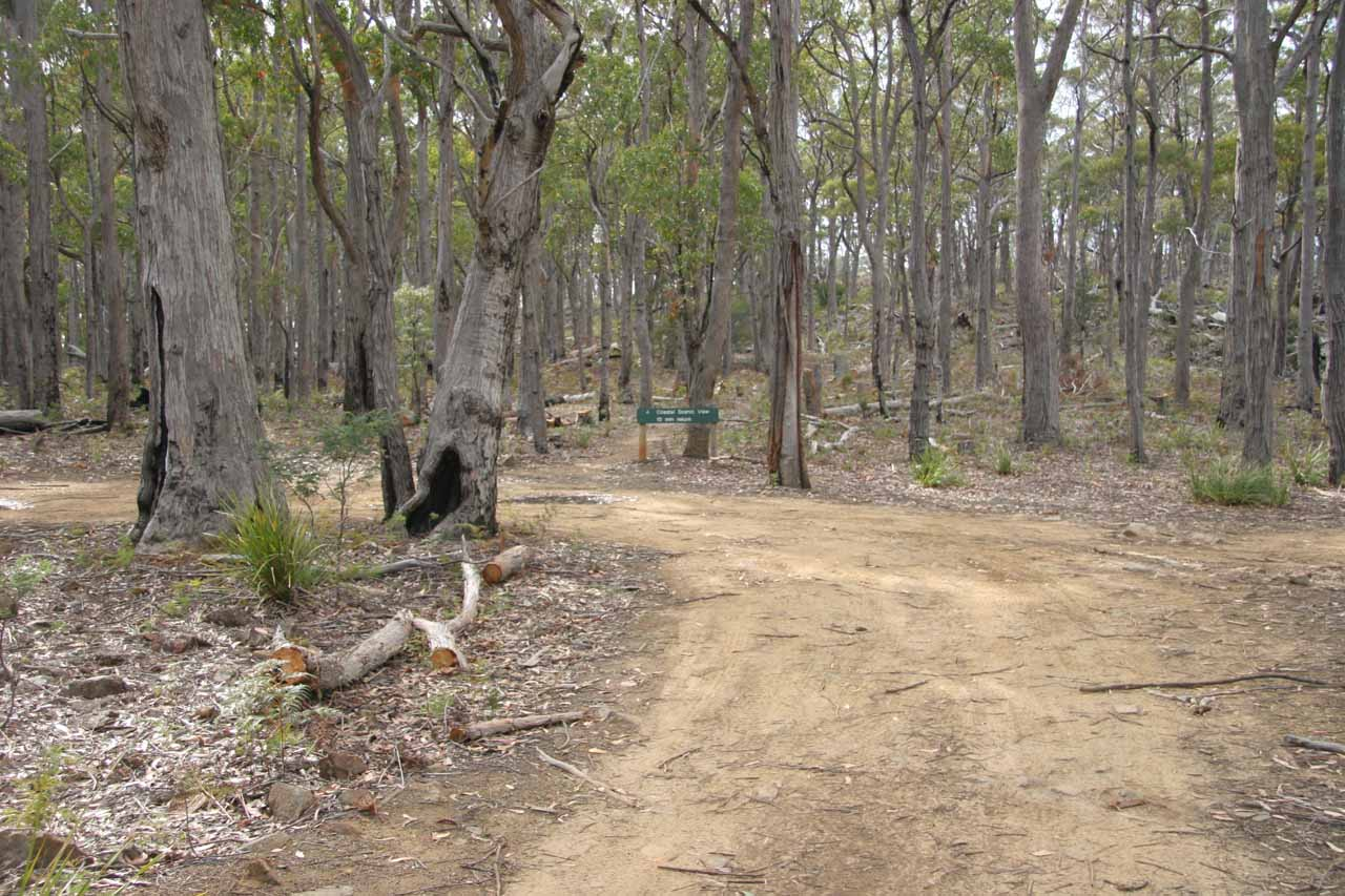 The car park area for Lost Falls from back in November 2006