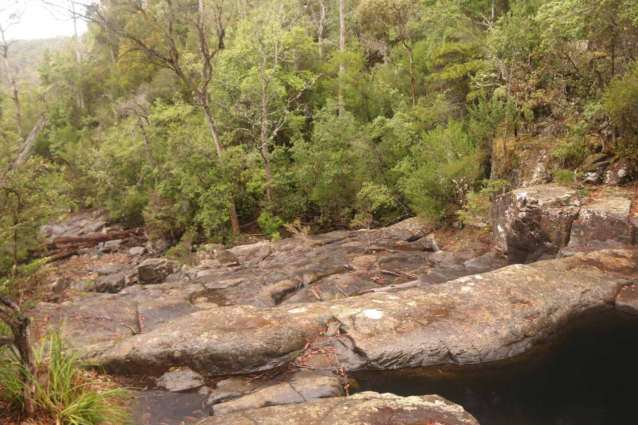 Looking downstream from the Rock Pools towards some tiers of Lost Falls