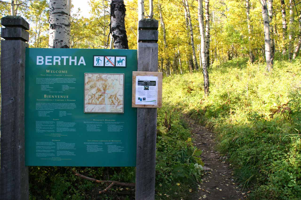 Lower Bertha Trailhead