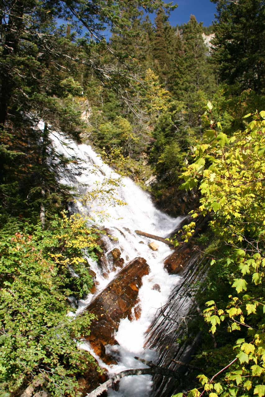 View of Lower Bertha Falls from the footbridge