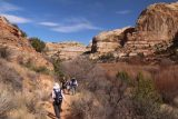 Lower_Calf_Creek_Falls_18_074_04022018 - The group continuing along the Lower Calf Creek Falls hike as other people were heading back during our April 2018 visit