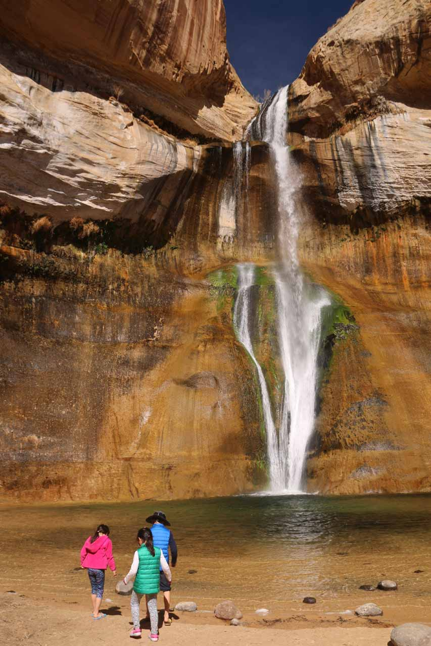 The kids really enjoyed the plunge pool at Lower Calf Creek Falls.  It definitely made them momentarily forget all the hiking they did to get here