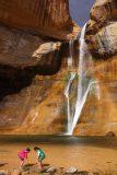 Lower_Calf_Creek_Falls_18_211_04022018 - Sophia and Tahia playing before the Lower Calf Creek Falls