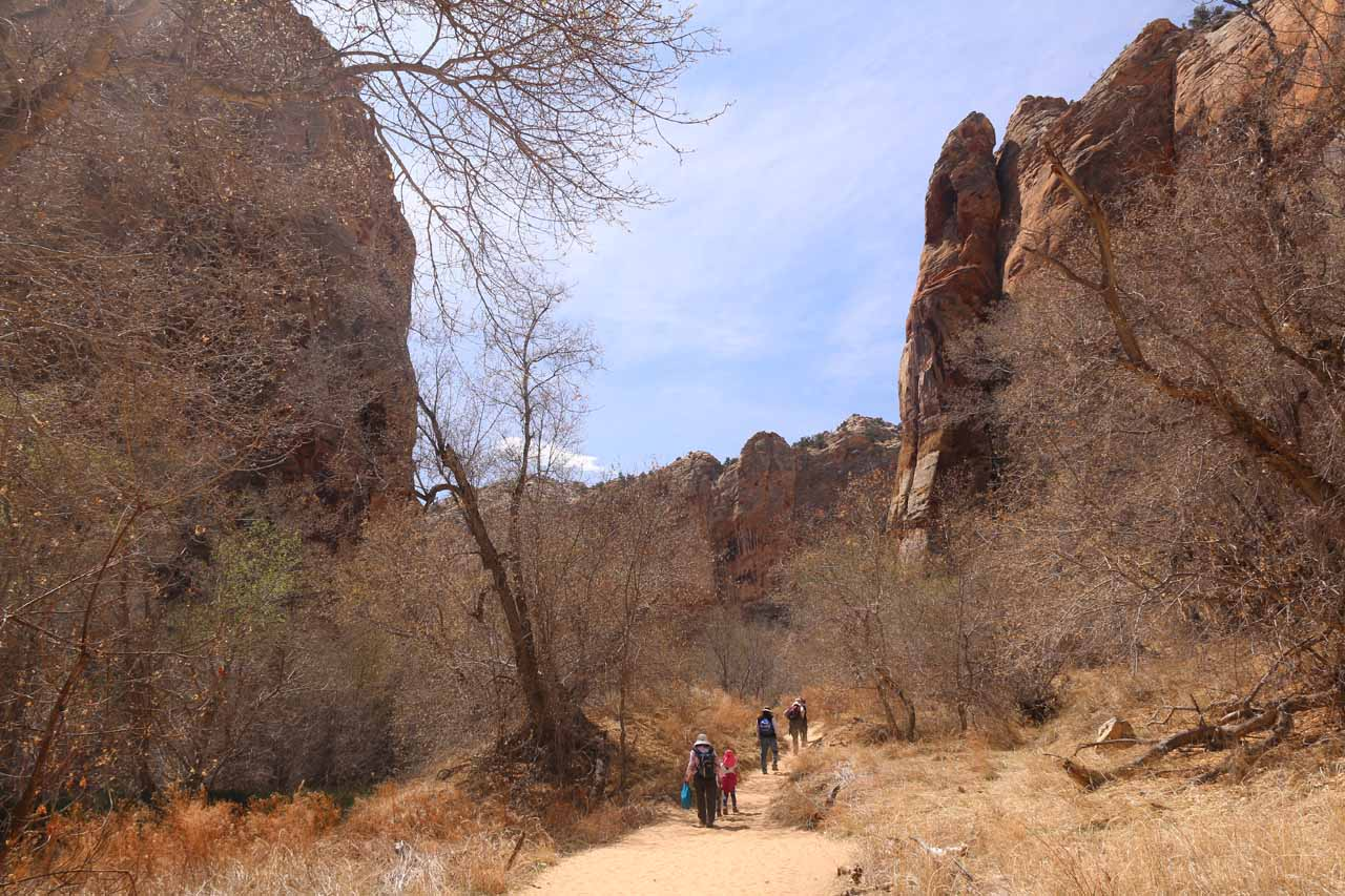 Leaving Lower Calf Creek Falls and making the long hike back to the parking lot