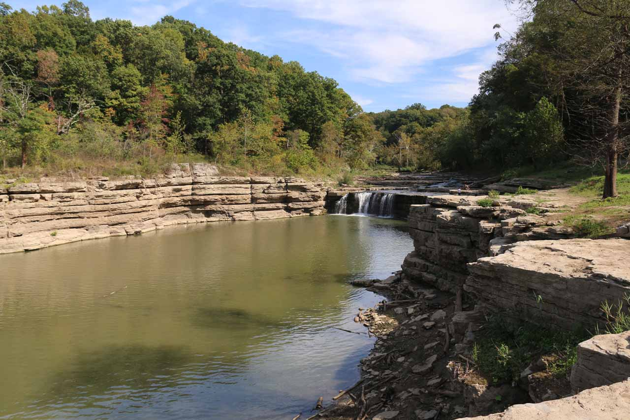 Our first look at the Lower Cataract Falls