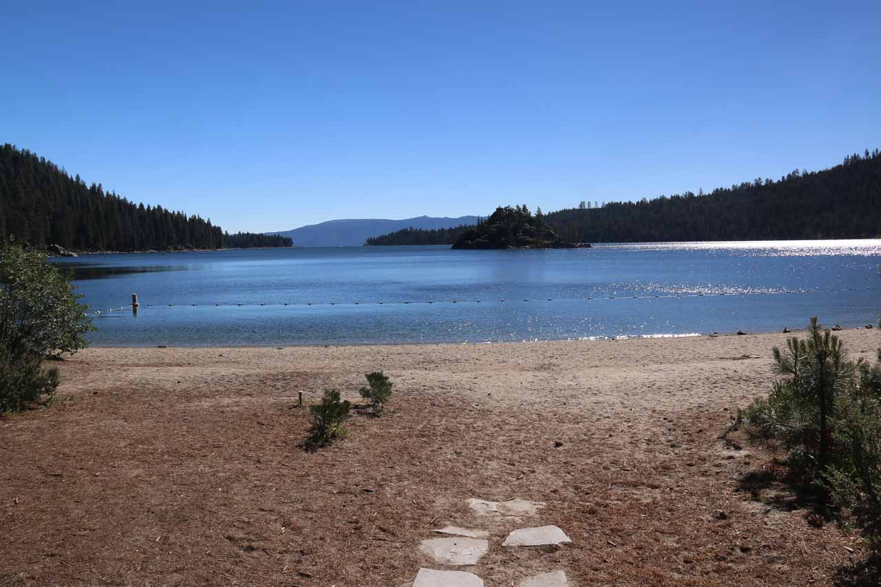 This was the view towards Emerald Bay from the lakeside front of Vikingsholm