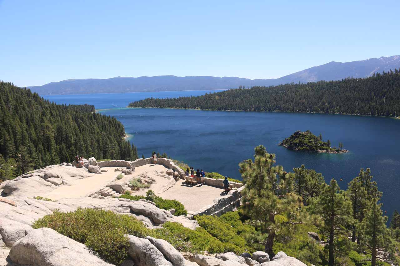 This was the Emerald Bay Overlook, which offered up unobstructed views of Fannette Island as well as fully contextual views of Lower Eagle Falls in addition to the sapphire blue Lake Tahoe itself