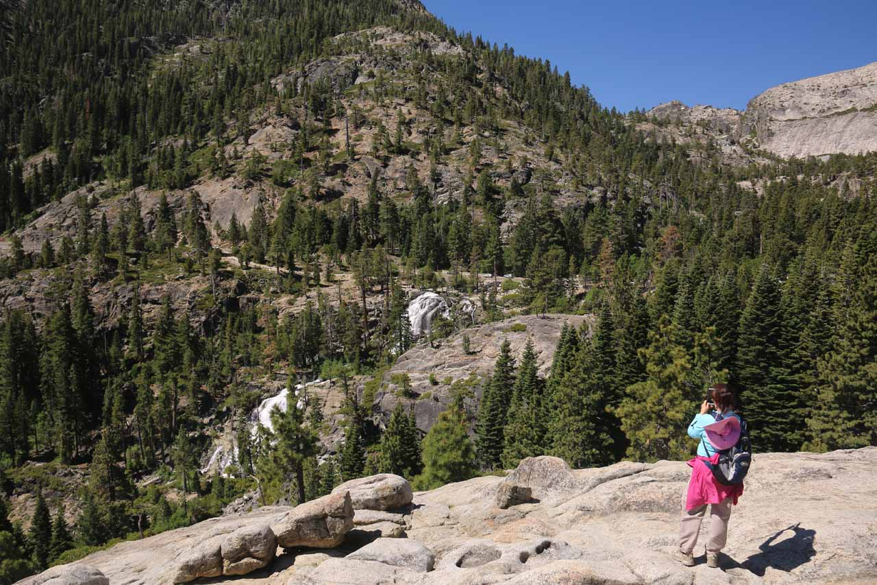 When we returned to the Emerald Bay Overlook, Mom got one last look at Lower Eagle Falls before we returned to the car