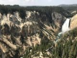 Lower_Falls_Yellowstone_010_iPhone_08102017 - Off-centered composed view of the Lower Falls and some of its neighboring yellowstone cliffs as seen from Lookout Point during our August 2017 visit