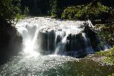 Lower_Lewis_River_Falls_028_06242021 - Semi-long-exposed shot of the Lower Lewis River Falls