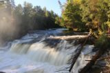 Lower_Tahquamenon_Falls_063_10012015 - Looking upstream towards the upper two drops of the right side of the Lower Tahquamenon Falls