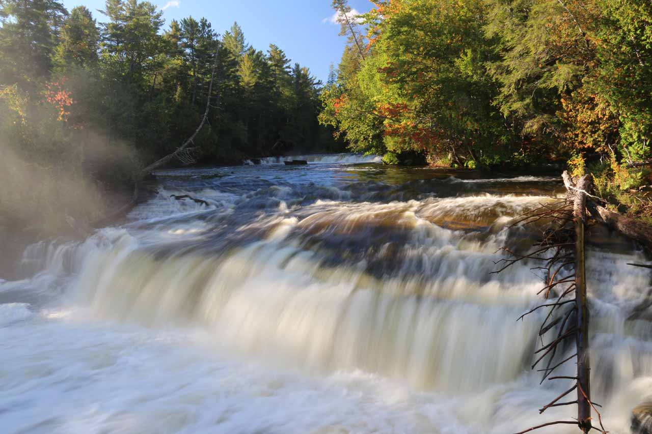 Looking at the right half of the Lower Tahquamenon Falls
